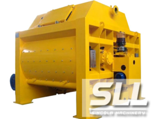 JS Twin Shaft Forced Concrete Mixer