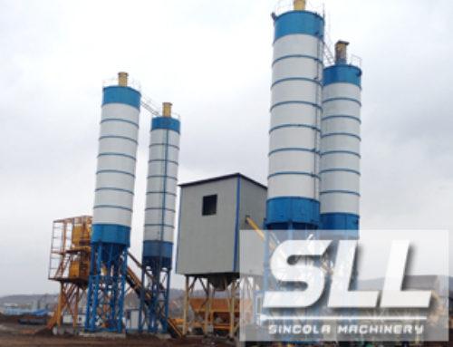 HZS50 ready-mixed concrete mixing plant