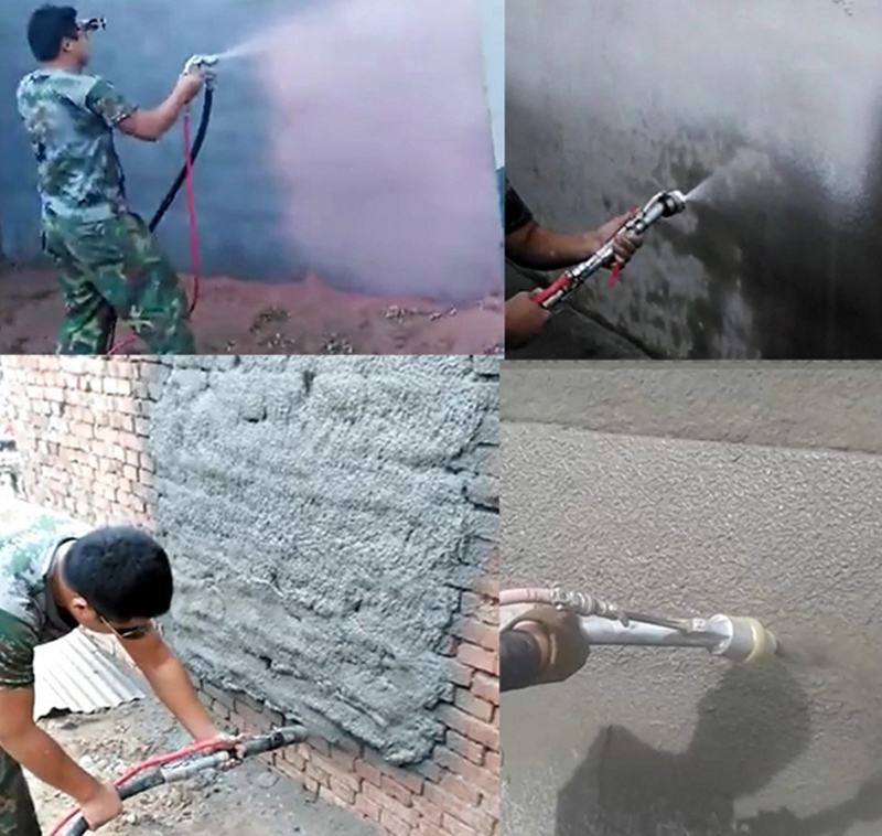 mortar spraying