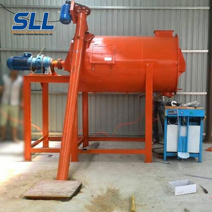 horizontal dry powder mixer